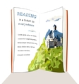 Book is a ticket to everywhere vector image