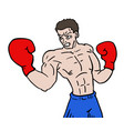 boxing fighter vector image vector image