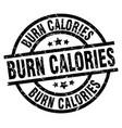 burn calories round grunge black stamp vector image vector image