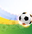 Burning soccer ball on playing field vector image vector image