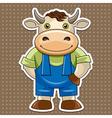 cartoon cute bull vector image