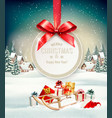 christmas holiday background with presents on a vector image vector image