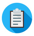 clipboard business flat icon modern style vector image