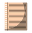 colorful graphic of striped notebook sheet in vector image vector image