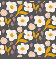 cutout style flower dark brown pattern vector image vector image