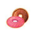 doughnuts on a white background vector image vector image