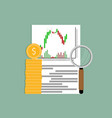 exchange analysis financial candlestick chart vector image