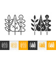 fall leaves simple black line icon vector image