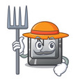 farmer button n on a game character vector image vector image