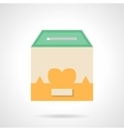 Flat color container for donations icon vector image vector image