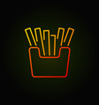 french fries colored icon - potato fries vector image