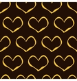 golden hearts pattern vector image vector image