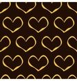 Golden Hearts Pattern vector image