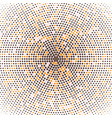 halftone of radial gradient colored dots vector image