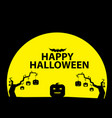 halloween celebration and pumpkins concept vector image vector image