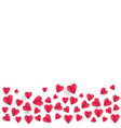 hearts on abstract love background with paper cut vector image