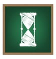 Hourglass sign White chalk effect on vector image vector image