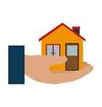 house real estate emblem vector image