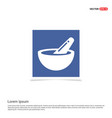 icon of bowl and chopsticks - blue photo frame vector image