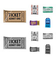 isolated object of ticket and admission symbol vector image vector image