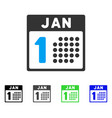 january first flat icon vector image