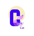 letter c - cat vector image