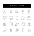 line icons set workplace pack vector image vector image