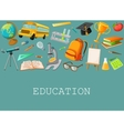 Line School Composition vector image vector image
