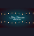 merry christmas bulb yellow garland vector image vector image