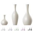 modern ceramic vase set vector image vector image