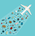 modern flat style concept for tourism industry vector image vector image