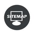Monochrome round sitemap icon vector image vector image