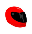 motorcycle helmet red isolated racer helmet on vector image
