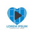 music love logo vector image