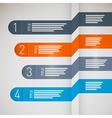 One two three four paper progress steps for vector image vector image
