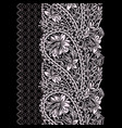 paisley - seamless black and white border vector image vector image