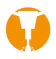 pneumatic hammer isolated icon vector image vector image