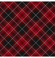 Pride of wales fabric diagonal textile red tartan vector image vector image