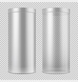 realistic 3d empty transparent glass jar and and vector image vector image