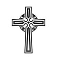 religious cross vector image vector image
