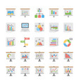 reports and diagrams icons set vector image