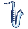 saxophone musical instrument icon vector image vector image