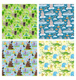 seamless animal pattern wildlife reptile vector image vector image