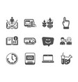set business icons such as instruction info vector image vector image