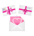set of envelopes with ribbons vector image vector image