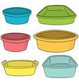 set of plastic basin