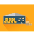 Storage Warehouse with Boxes in Cut vector image