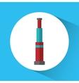Telescope nautical marine icon graphic vector image vector image