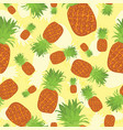 tropical summer seamless pattern of pineapples on vector image