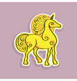 unicorn sticker vector image vector image